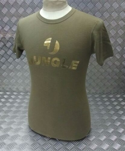 """Genuine Military Issue Cotton T - Shirt Printed Front """"Jungle"""" Bling Unisex Fit"""