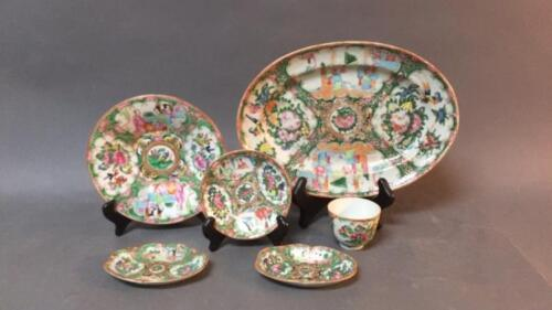 Group of Chinese Rose Medallion porcelain Lot 9