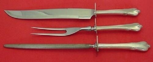 Grand Colonial By Wallace Sterling Silver Roast Carving Set 3-Piece