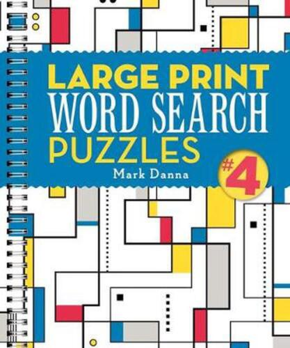 Large Print Word Search Puzzles by Mark Danna Spiral Book Free Shipping!