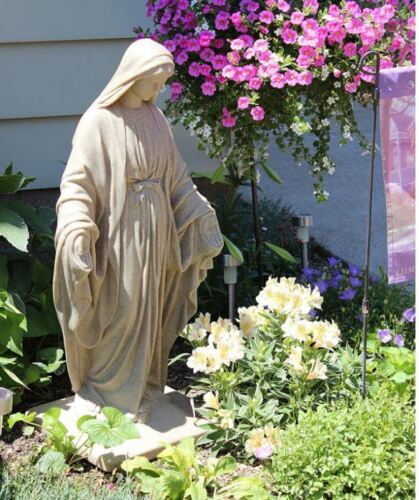 Virgin Mary Statue Blessed Mother Garden Sculpture Resin Religious Catholic New