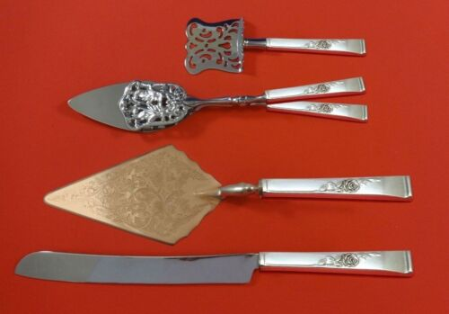 Classic Rose by Reed and Barton Sterling Silver Dessert Serving Set 4pc Custom