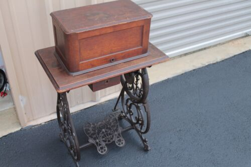 Antique Willcox & Gibbs Crank Table Mount Sewing Machine