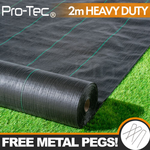 2m wide 100gsm weed control fabric ground cover membrane landscape Heavy Duty <br/> HEAVY DUTY! GEOTEXTILE, DRIVEWAYS PATHS AND LANDSCAPING