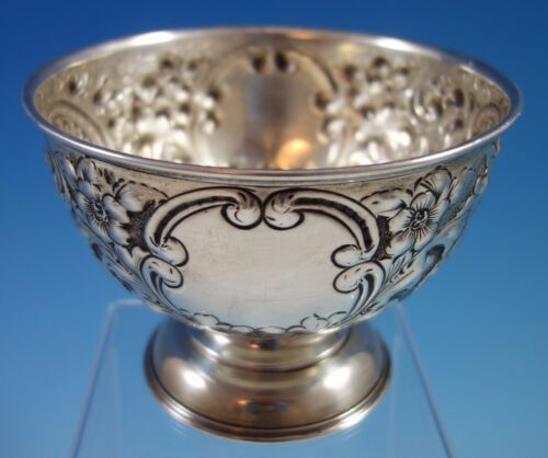 J. Gloster Ltd. English Sterling Silver Repoussed and Chased Pedestal Bowl #1651