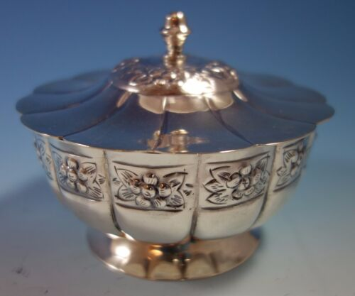 Aztec Rose by Sanborns Mexican Mexico Sterling Silver Candy Dish (#1825)