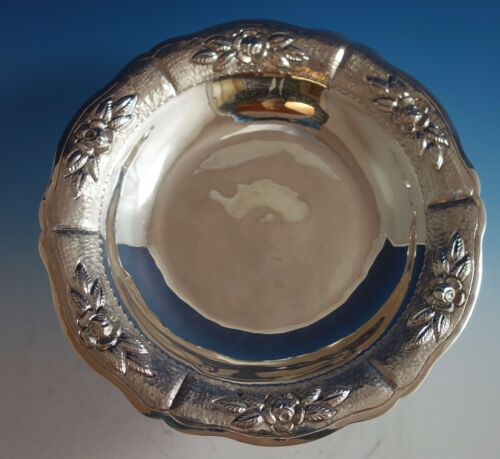 Aztec Rose by Maciel Mexican Mexico Sterling Silver Compote #1793