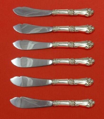 La Marquise By Reed and Barton Sterling Silver Trout Knife Set HHWS 6pc Custom