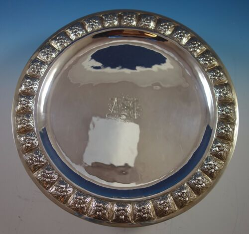 Desert Rose by Sanborns Mexican Sterling Silver Serving Platter Round (#1713)