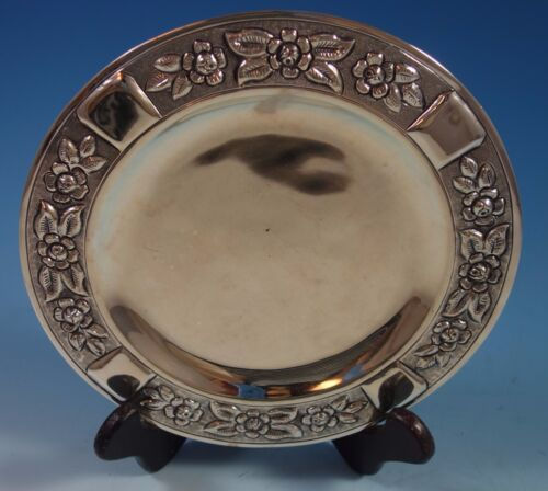 "Aztec Rose by Maciel Mexican Mexico Sterling Silver Dessert Plate 8"" (#1765)"