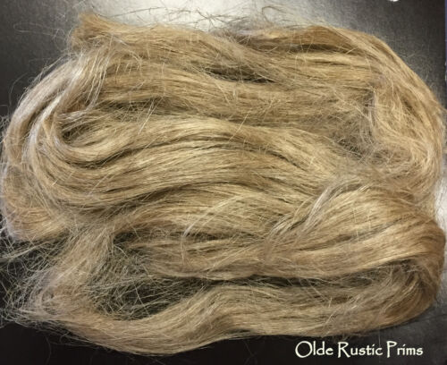 Raw Flax Fiber for Extreme Primitive Doll Hair---Primitive Rustic Dolls