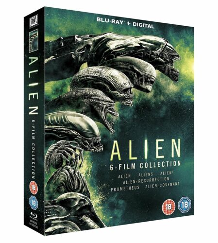 "ALIEN THE COMPLETE MOVIE COLLECTION BOX SET 6 DISCS BLU-RAY RB ""NEW&SEALED"""