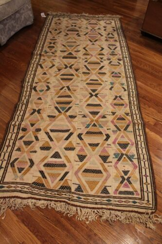 Antique Tribal Rug 3.7 x 8.10 hand knotted