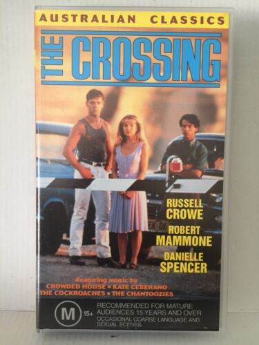THE CROSSING ~ RUSSELL CROWE, ROBERT MAMMONE, DANIELLE SPENCER ~ RARE VHS VIDEO