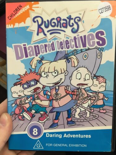 Rugrats - Diapered Detectives ex-rental region 4 DVD (Nickelodeon kids series)