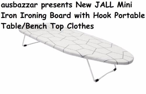 JALL MINI IRON IRONING BOARD PORTABLE TABLE TOP CLOTHES 2019 Stock Free Post