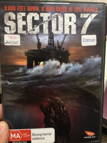 Sector 7 ex-rental region 4 DVD (2011 South Korean action sci-fi movie) rare