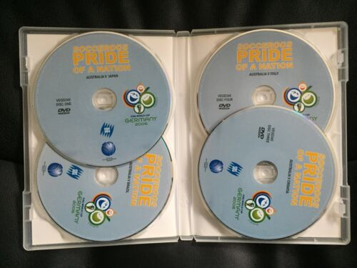 SOCCEROOS ~ PRIDE OF A NATION ~ FIFA WORLD CUP GERMANY 2006 ~ 4 DISC PAL DVD SET