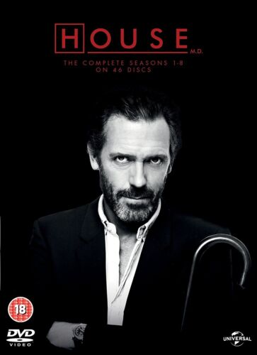 """HOUSE MD COMPLETE SERIES COLLECTION 1-8 DVD BOX SET 46 DISC """"NEW&SEALED"""""""