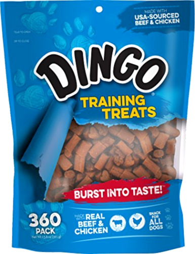 Dingo Soft & Chewy Training Treats, 360-Count Dog Pet Food Snack .