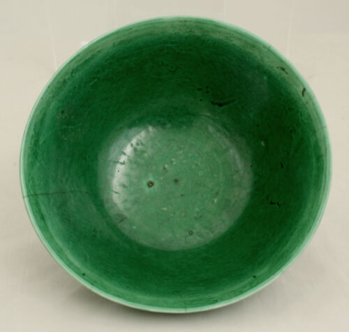 Chinese Qing to Republic Monochrome Green Porcelain Bowl