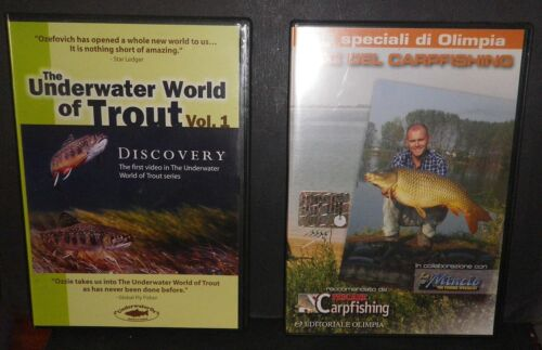 PESCA IN FIUME - 2 DVD: ABC DEL CARPFISHING -UNDERWATER WORLD OF TROUT (inglese)