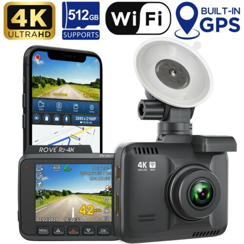 Rove R2-4K Car Dash Cam - 4K Ultra HD 2160P - Built-In WiFi & GPS, Parking Mode <br/> ✔Fast Shipping✔Factory Sealed✔1 Year Warranty✔US Stock