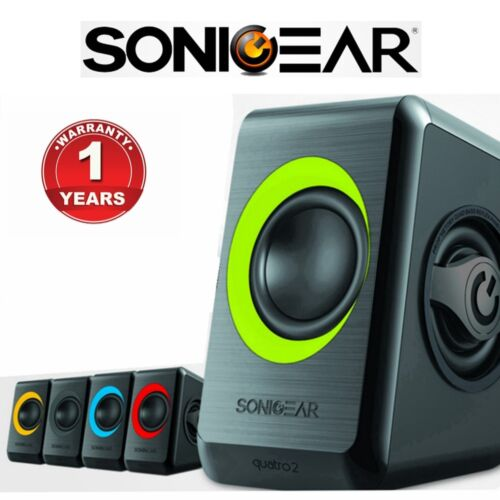 Computer Speakers SonicGear Quatro 2 USB Powered Bass Loud Style PC Speakers