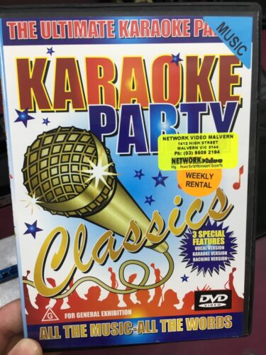 Karaoke Party Classics ex-rental region 4 DVD (Abba, Tom Jones, Madonna, more)