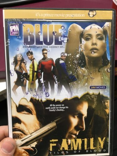 2 Indian / Hindi movies - Blue / Family - Tiles Of Blood region 4 DVD