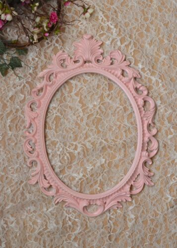 Pink Baroque Oval Frame French Style Open back Ornate Wedding Portrait Nursery