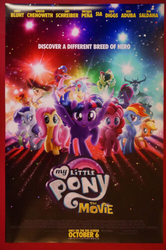 My Little Pony The Movie Animated Horse Pony Movie Poster 24X36  NEW   MLP1