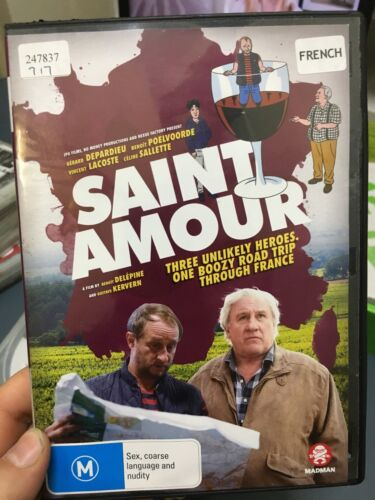 Saint Amour ex-rental region 4 DVD (2016 Gerard Depardieu French comedy movie)