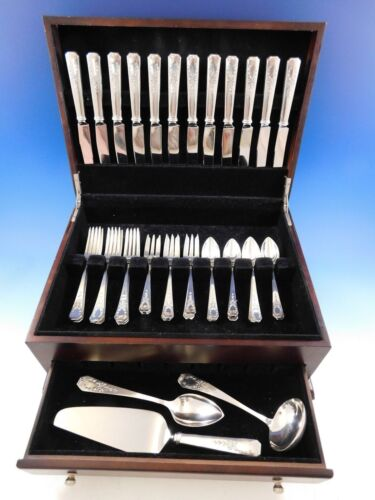 Madam Jumel by Whiting Sterling Silver Flatware Set for 12 Service 51 Pieces