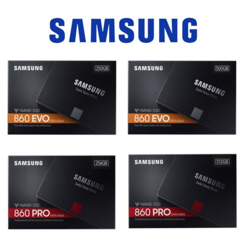 "SamSung SSD 860 Evo Pro 500GB 256GB 250G 512G Solid State Drive Laptop SATA 2.5"" <br/> 10% OFF *   $100 *code PAYN4 * Select After @ Checkout"