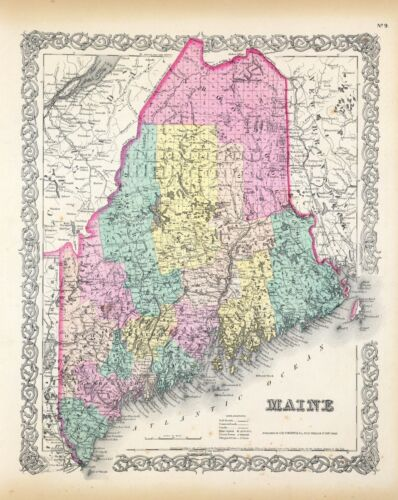 147 maps MAINE STATE history atlas antique TREASURE HUNTING old GENEALOGY  DVD