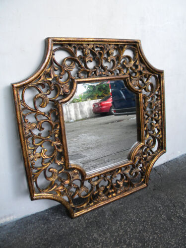 Hollywood Regency Vintage Mid Century Wall Mirror 5649