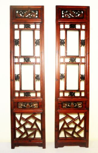 Antique Chinese Screen Panels (2828)(Pair), Cunninghamia Wood, Circa 1800-1849