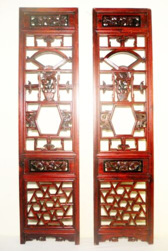 Antique Chinese Screen Panels (2854)(Pair), Cunninghamia Wood, Circa 1800-1849