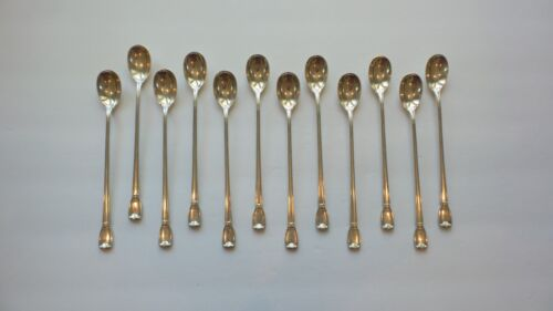 Set/12 Tiffany & Co. CASTILIAN Sterling Silver Iced Tea Spoons