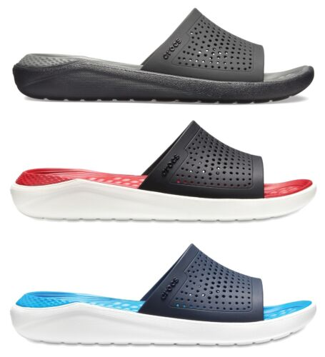 Crocs Adults Unisex LiteRide Slide Cushioned Slip Ons Sandals Flip Flops