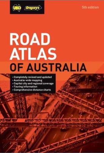 Road Atlas of Australia 5th ed by UBD Gregory's Spiral Book Free Shipping!