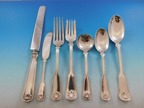 Shell & Thread by Tiffany Sterling Silver Flatware Set for 8 Service 56 pieces