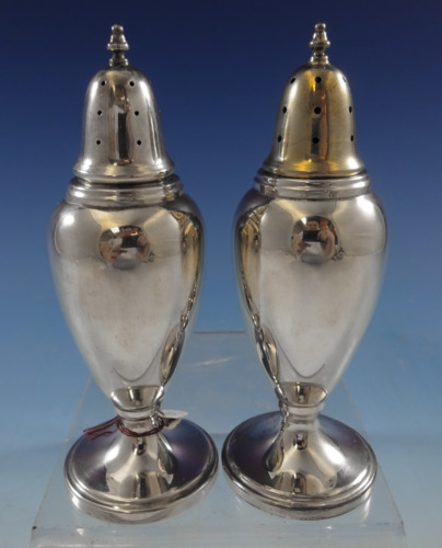 Pointed Antique by Reed Barton Dominick Haff Sterling Salt Pepper Shakers #2409