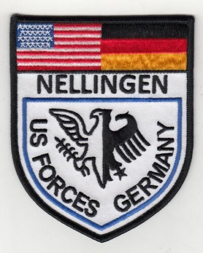 """U.S. Forces Nellingen Germany  4""""  embroidered patchArmy - 66529"""