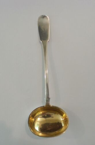 Imperial Russian 84 Silver Hallmarked/ Partial Gilt Punch Ladle, c. 1853