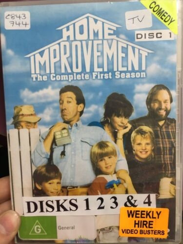 Home Improvement Season 1 ex-rental region 4 DVD (4 discs) comedy tv series