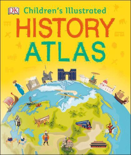Children's Illustrated History Atlas by Dk Hardcover Book Free Shipping!