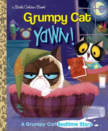 Yawn!: A Grumpy Cat Bedtime Story by Christy Webster Hardcover Book Free Shippin