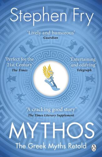 Mythos: The Greek Myths Retold by Stephen Fry Paperback Book Free Shipping!